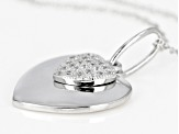 White Cubic Zirconia Rhodium Over Sterling Silver Pendant With Chain 0.25ctw