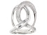 White Cubic Zirconia Rhodium Over Sterling Silver Ring 1.45ctw