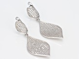 White Cubic Zirconia Rhodium Over Sterling Silver Earrings 4.11ctw