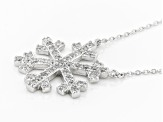 White Cubic Zirconia Rhodium Over Sterling Silver Necklace 2.40ctw