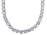 White Cubic Zirconia Rhodium Over Sterling Silver Necklace 130.00ctw