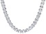 White Cubic Zirconia Rhodium Over Sterling Silver Necklace 110.00ctw