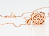 pink color shift garnet 18k rose gold over silver pendant with chain 2.12ctw