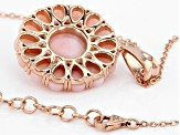 Pink Opal 18k Rose Gold Over Silver Pendant With Chain 0.20ctw