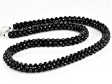Black Spinel Sterling Silver Beaded Necklace