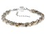 Gray Labradorite Rhodium Over Sterling Silver Beaded Bracelet