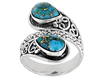 Picture of Blue Turquoise Sterling Silver Ring 9x6mm