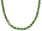 Green Chrome Diopside Rhodium Over Silver Necklace 29.47ctw