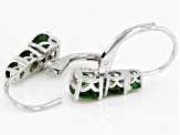 Chrome Diopside Rhodium Over Silver Earrings 2.63ctw