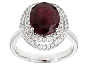 Red Mahaleo® Ruby  Rhodium Over Silver Ring 4.00ctw
