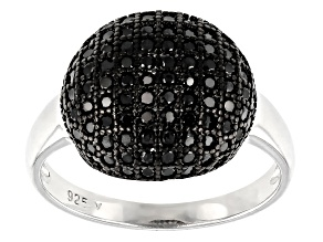Black Spinel Rhodium Over Sterling Silver Ring 1.18ctw