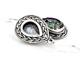 Multi-color Quartz Sterling Silver Dangle Earrings 6.5 ctw