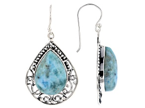 Larimar Sterling Silver Dangle Earrings