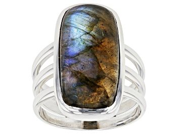 Picture of Gray Labradorite Sterling Silver Solitaire Ring