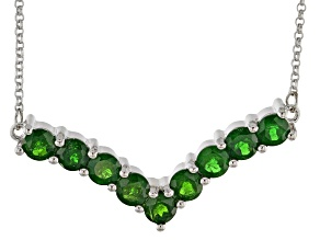 Chrome Diopside Rhodium Over Sterling Silver Necklace 4.15ctw
