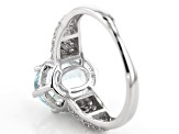 Aquamarine Rhodium Over Sterling Silver Ring 2.63ctw