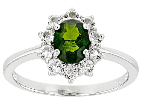 Green Chrome Diopside Sterling Silver Ring 2.00ctw