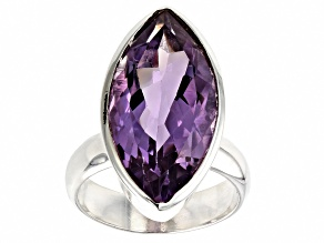 Purple Amethyst Silver Ring 10.00ct