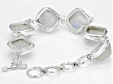 White Moonstone Sterling Silver Bracelet