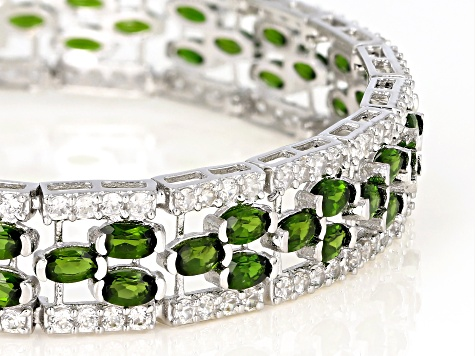 Green Chrome Diopside Sterling Silver Bracelet 20.04ctw