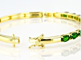 Chrome Diopside 18K  Yellow Gold Over Sterling Silver Bracelet 5.28ctw