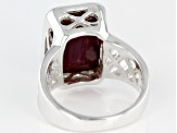 Red  Ruby Sterling Silver Ring 7ctw