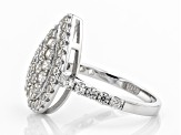 White Zircon Rhodium Over Sterling Silver Ring 1.90ctw