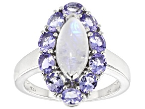 Tanzanite Rhodium Over Sterling Silver Ring 1.60ctw