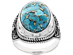 Turquoise Solitaire Sterling Silver Ring