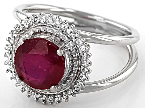 Red Mahaleo® Ruby Sterling Silver Ring 2.08ctw