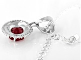 Red Mahaleo® Ruby Sterling Silver Pendant With Chain 2.08ctw