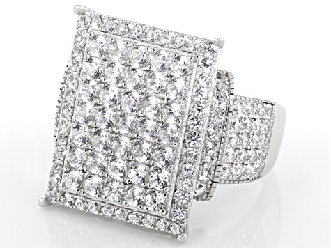 White Zircon Rhodium Over Silver Ring 2.75ctw