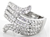 White Zircon Rhodium Over Sterling Silver Ring 1.50ctw