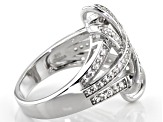 White Zircon Rhodium Over Sterling Silver Ring 1.25ctw