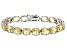 Citrine Rhodium Over Sterling Silver Line Bracelet 27.55ctw