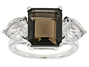 Brown Smoky Quartz Sterling Silver Ring 9.30ctw