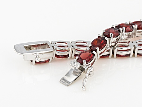 Red Garnet Rhodium Over Sterling Silver Necklace 61.00ctw