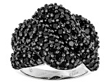 Black Spinel Sterling Silver Ring 5.00ctw