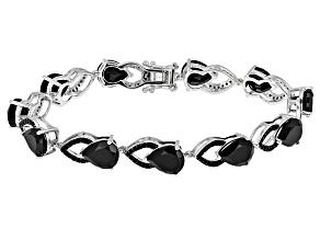 Black Spinel Sterling Silver Bracelet 28.35ctw