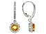Yellow Citrine Sterling Silver Earrings 1.98ctw