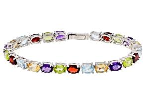 Sky Blue Topaz Sterling Silver Bracelet 18.95ctw