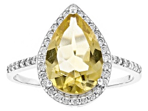 Yellow Citrine Sterling Silver Ring 3.98ctw