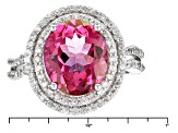 Pink Danburite Sterling Silver Ring 6.18ctw