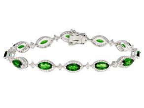 Green Chrome Diopside Sterling Silver Bracelet 10.95ctw