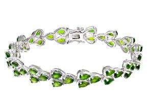 Green Chrome Diopside Sterling Silver Bracelet 11.04ctw