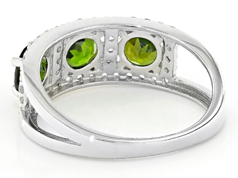 Green Chrome Diopside Sterling Silver Ring 2.45ctw
