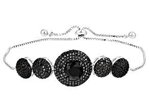 Black Spinel Sterling Silver Bracelet 4.93ctw