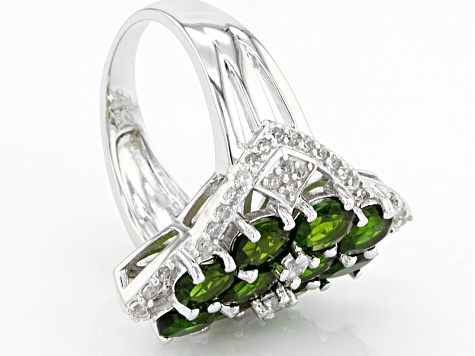 Green Russian Chrome Diopside Sterling Silver Ring 5.10ctw