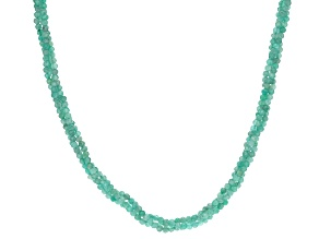 Blue Amazonite Sterling Silver Multi Strand Adjustable Necklace