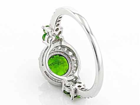 Green Russian Chrome Diopside Sterling Silver Ring 2.15ctw